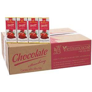 Cacao sữa dâu VietnamCacao hộp 180ml (Thùng 48 hộp)