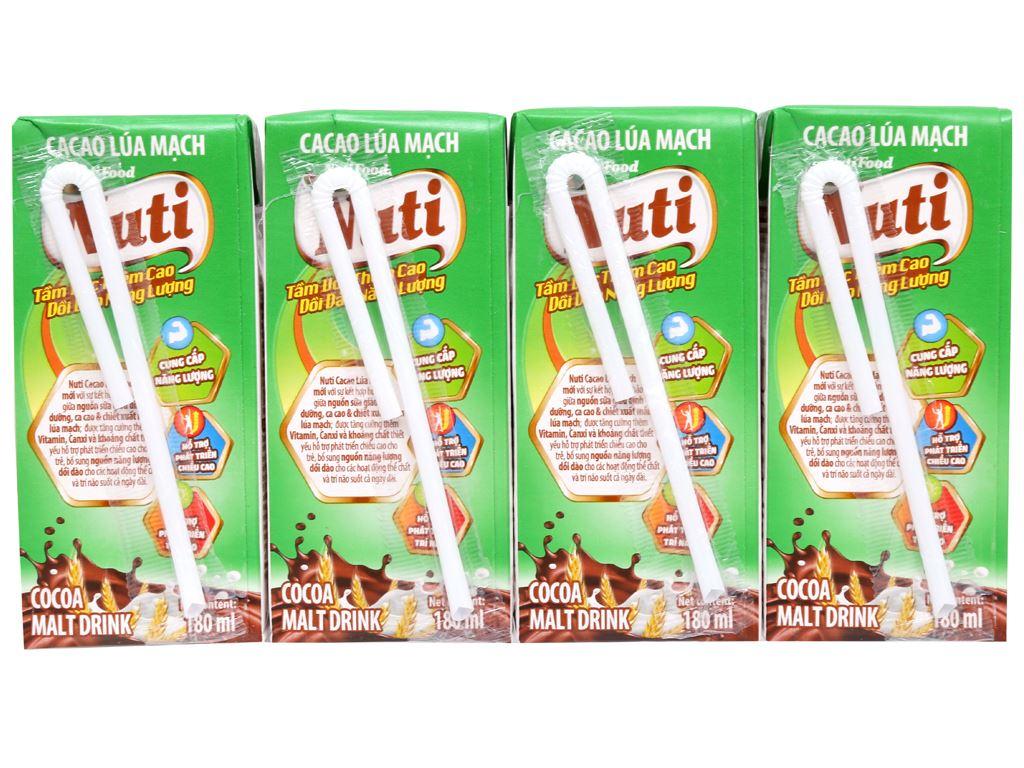 Lốc 4 hộp sữa cacao lúa mạch NutiFood 180ml 7