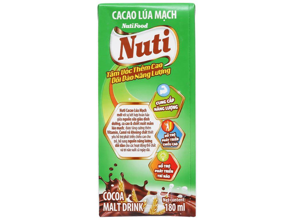 Lốc 4 hộp sữa cacao lúa mạch NutiFood 180ml 9