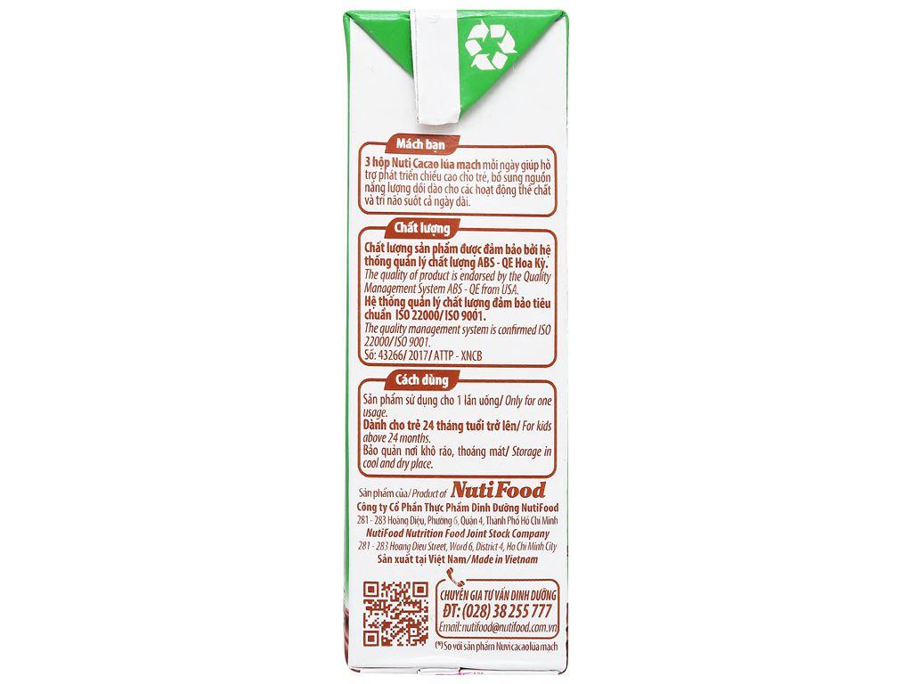 Lốc 4 hộp sữa cacao lúa mạch NutiFood 180ml 10