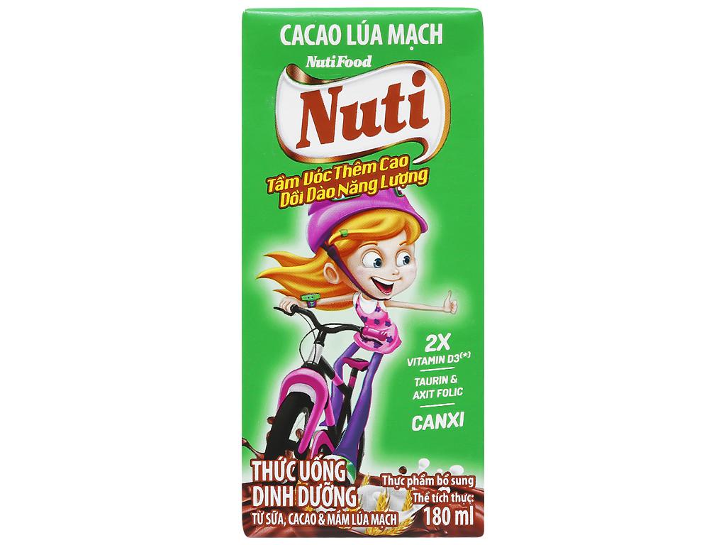 Thùng 48 hộp sữa cacao lúa mạch NutiFood 180ml 4