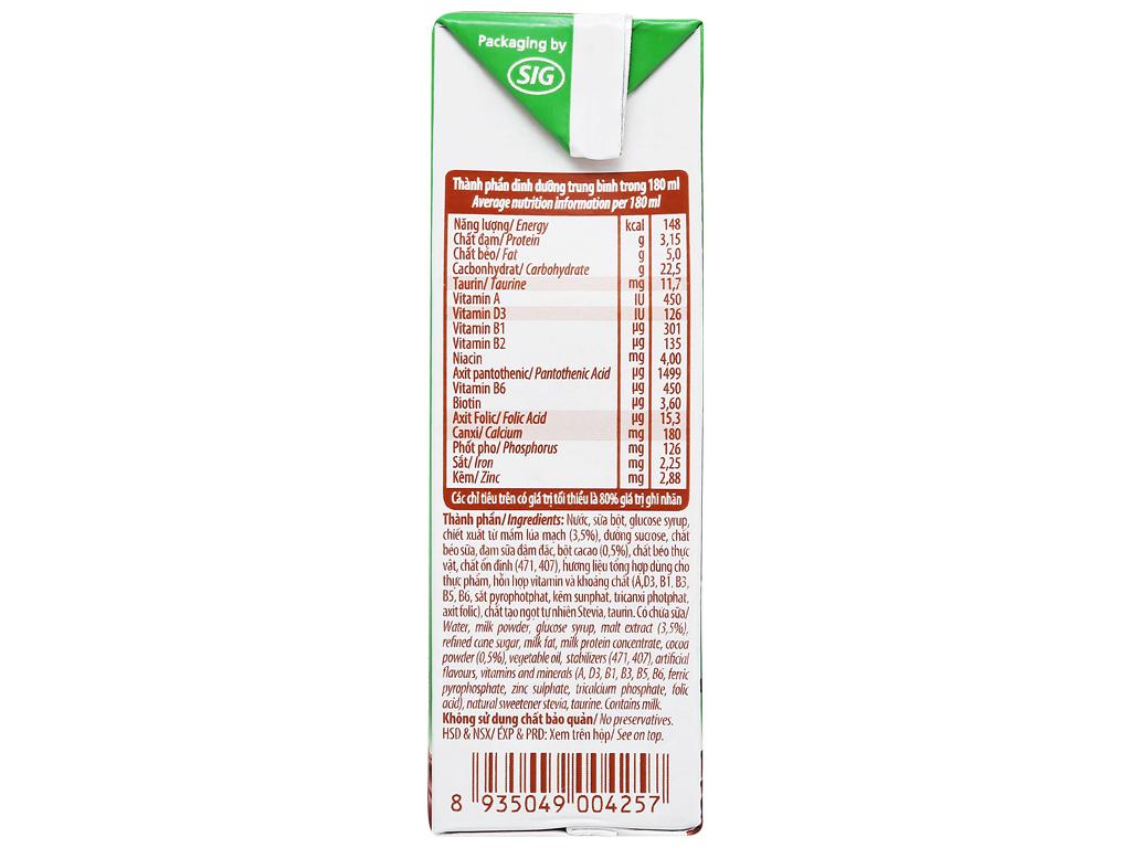 Thùng 48 hộp sữa cacao lúa mạch NutiFood 180ml 7