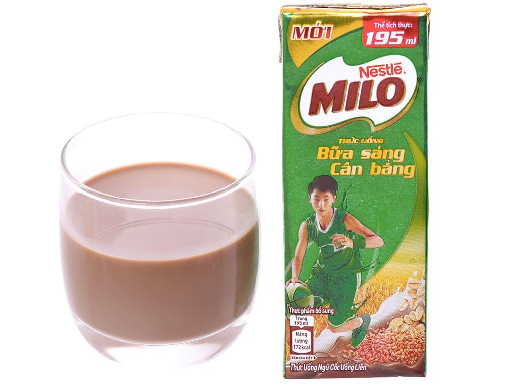 Thùng 30 hộp thức uống ngũ cốc Milo Bữa sáng cân bằng 195ml 2