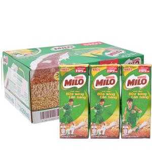 Thùng 30 hộp thức uống ngũ cốc Milo Bữa sáng cân bằng 195ml