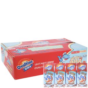 Thùng 48 hộp thức uống lúa mạch Ovaltine DHA+ sô cô la 180ml