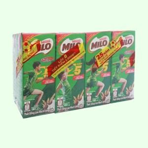 Lốc 8 hộp thức uống lúa mạch uống liền Milo Active Go 180ml (phiên bản giới hạn)