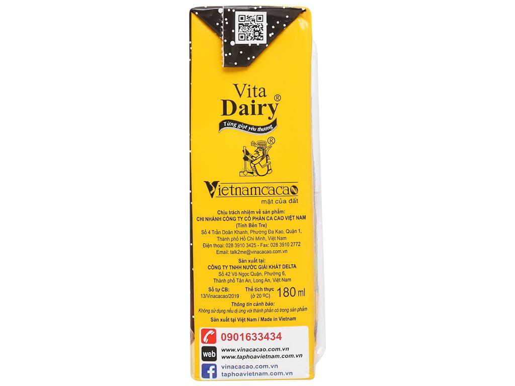 Lốc 4 hộp cacao hạt dẻ Vita Dairy 180ml 4