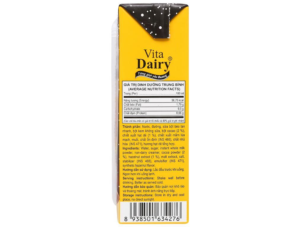 Lốc 4 hộp cacao hạt dẻ Vita Dairy 180ml 5