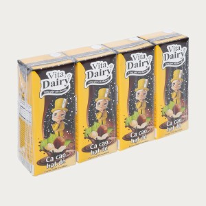 Lốc 4 hộp cacao hạt dẻ Vita Dairy 180ml