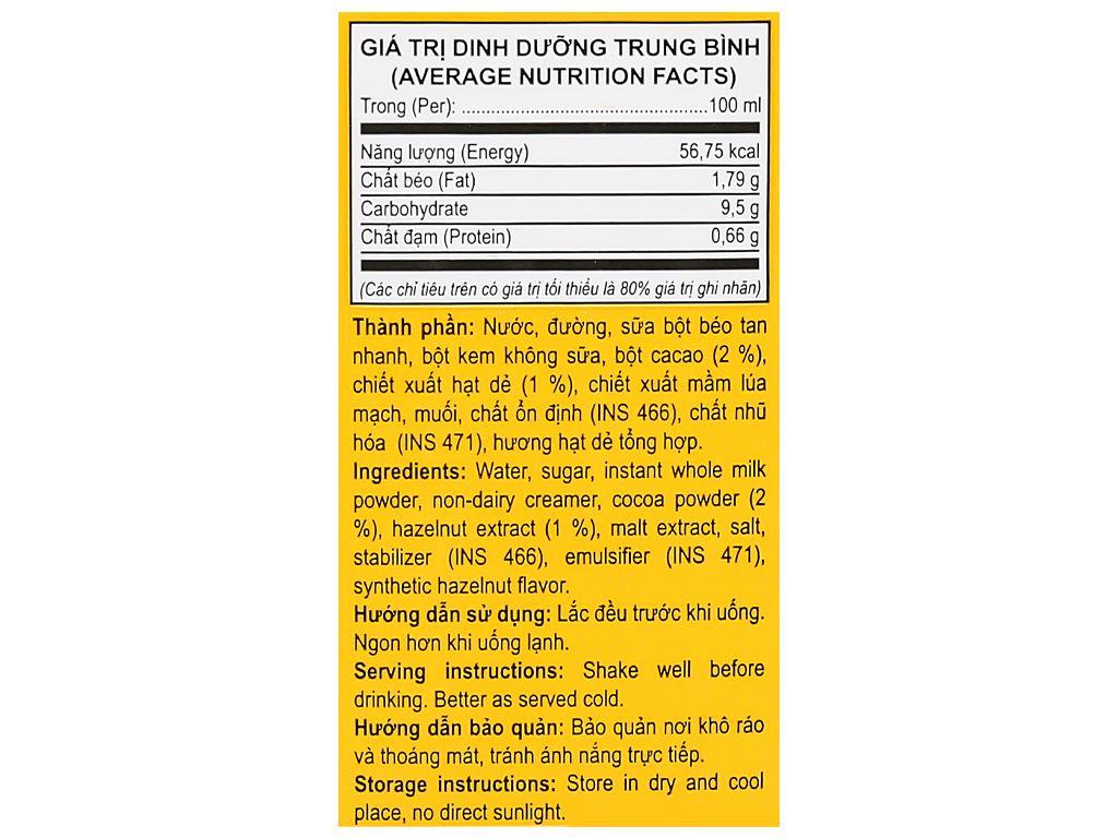 Thùng 48 hộp cacao hạt dẻ Vita Dairy 180ml 6