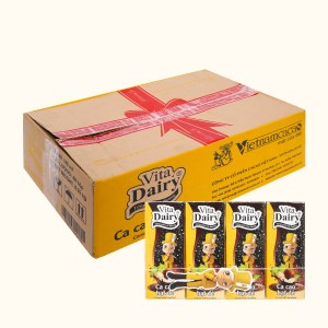 Thùng 48 hộp cacao hạt dẻ Vita Dairy 180ml