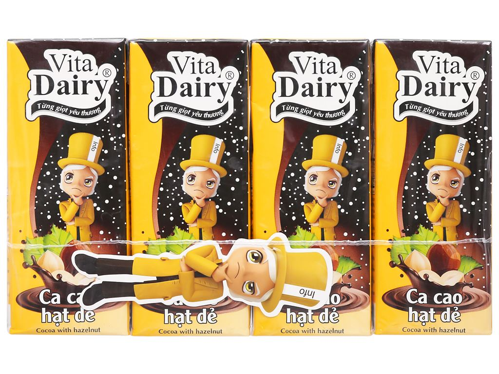 Thùng 48 hộp cacao hạt dẻ Vita Dairy 180ml 2