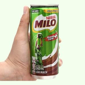 Sữa lúa mạch Milo Active Go lon 240ml
