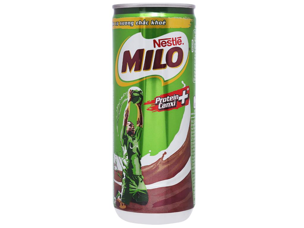 Thức uống lúa mạch uống liền Milo Active Go lon 240ml 2