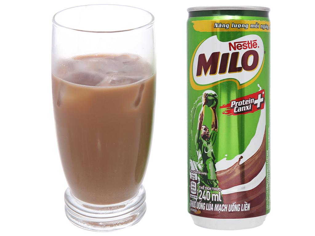 Thức uống lúa mạch uống liền Milo Active Go lon 240ml 4