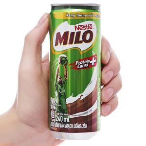 Thức uống lúa mạch uống liền Milo Active Go lon 240ml