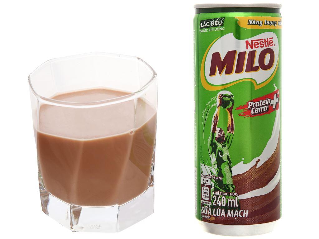 Sữa lúa mạch Milo Active Go lon 240ml 10