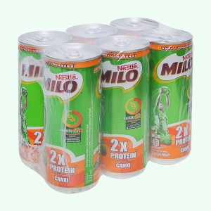 Lốc 6 lon sữa lúa mạch Milo Active Go 240ml