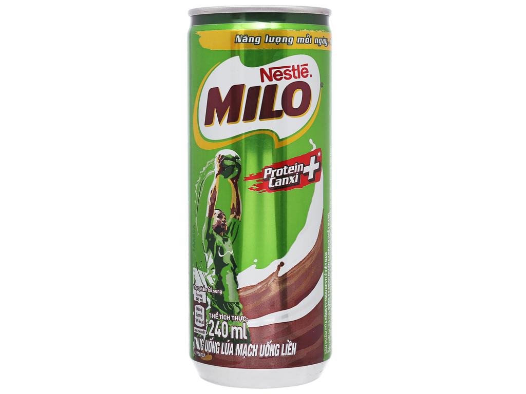 Lốc 6 lon thức uống lúa mạch uống liền Milo Active Go 240ml 2