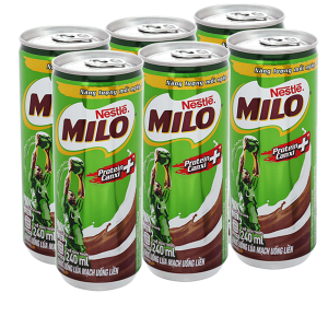 Lốc 6 lon thức uống lúa mạch uống liền Milo Active Go 240ml