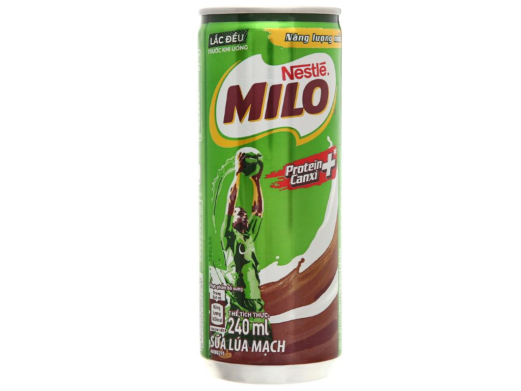 Lốc 6 lon sữa lúa mạch Milo Active Go 240ml 7