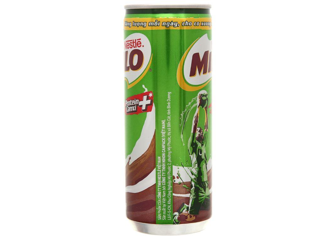 Lốc 6 lon sữa lúa mạch Milo Active Go 240ml 8