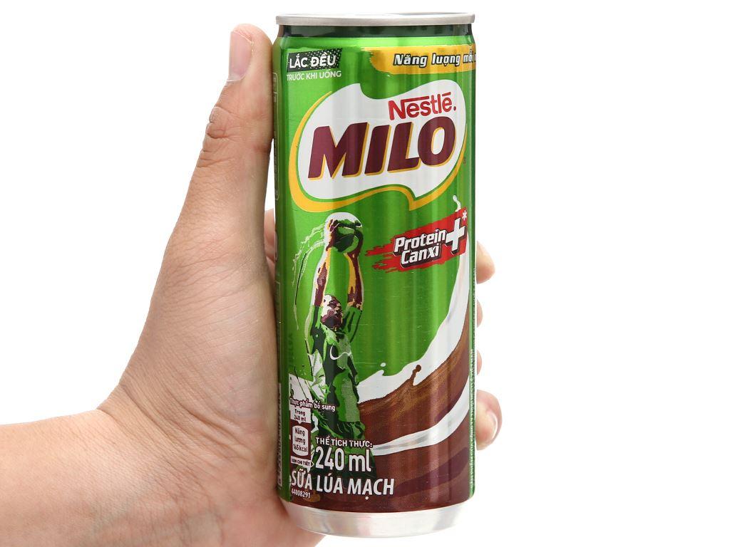 Lốc 6 lon sữa lúa mạch Milo Active Go 240ml 11