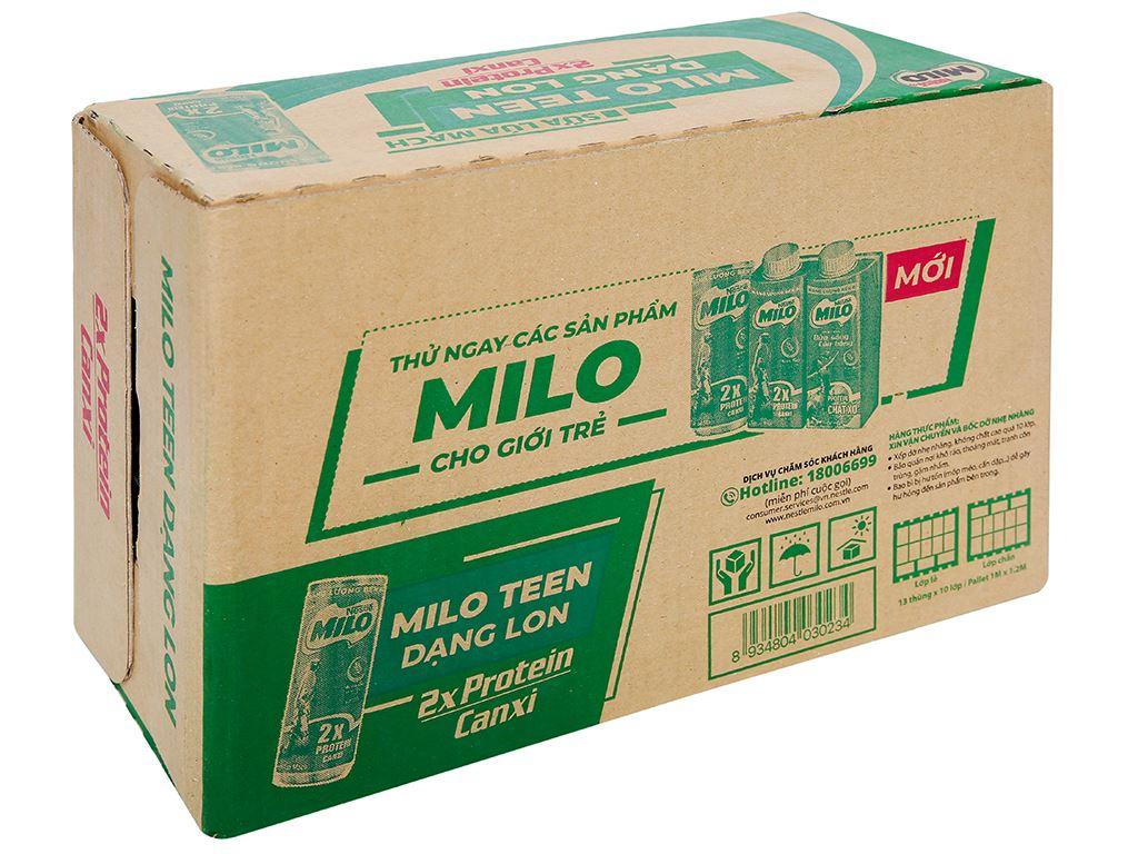 Thùng 24 lon sữa lúa mạch Milo Active Go 240ml 1