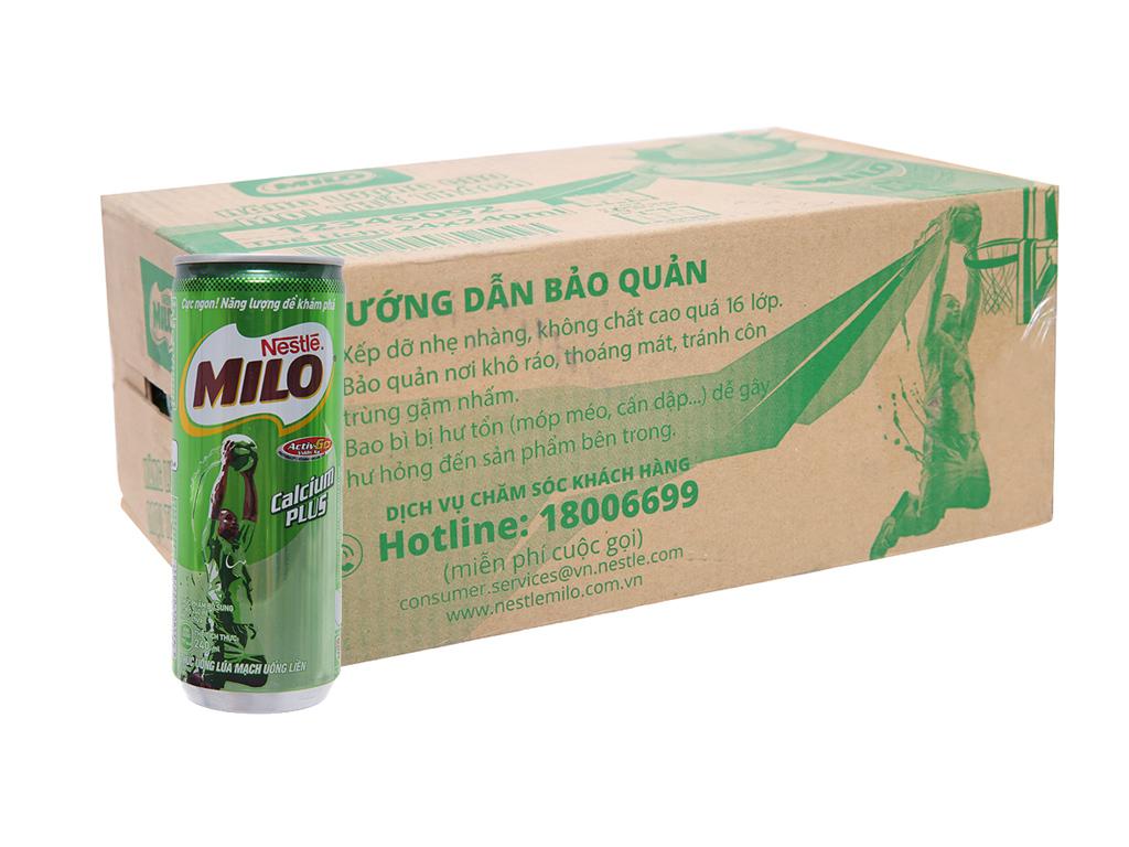 Thùng 24 lon thức uống lúa mạch uống liền Milo Active Go 240ml 1