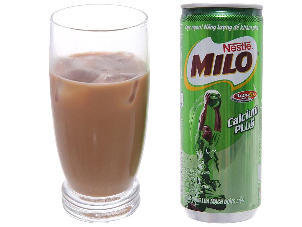 Thùng 24 lon thức uống lúa mạch uống liền Milo Active Go 240ml 4