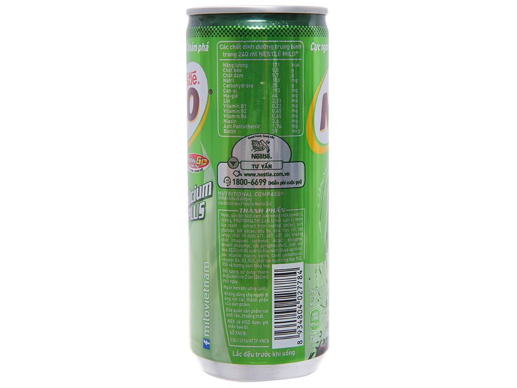 Thùng 24 lon thức uống lúa mạch uống liền Milo Active Go 240ml 3