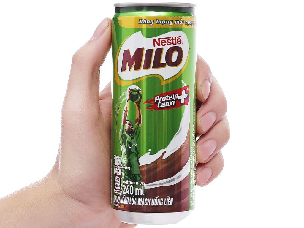 Thùng 24 lon sữa lúa mạch Milo Active Go 240ml 4