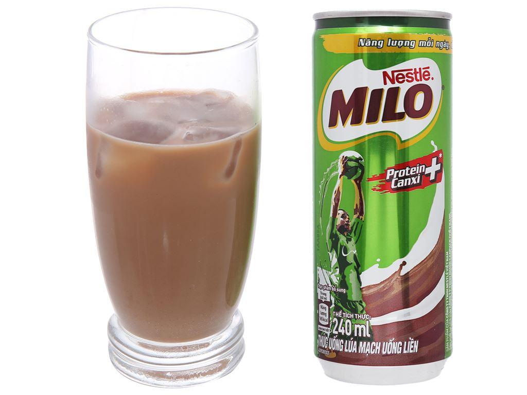 Thùng 24 lon thức uống lúa mạch uống liền Milo Active Go 240ml 5