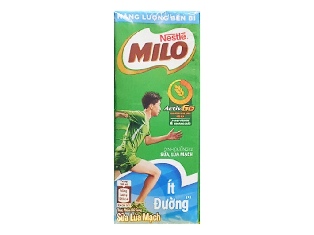 Lốc 4 hộp thức uống lúa mạch ít đường Milo Active Go 180ml 3