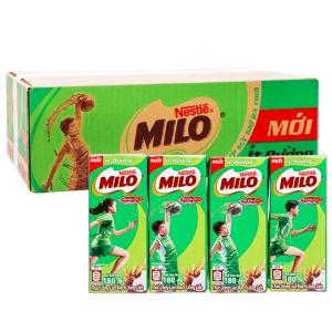 Thùng 48 hộp thức uống lúa mạch ít đường Milo Active Go 180ml