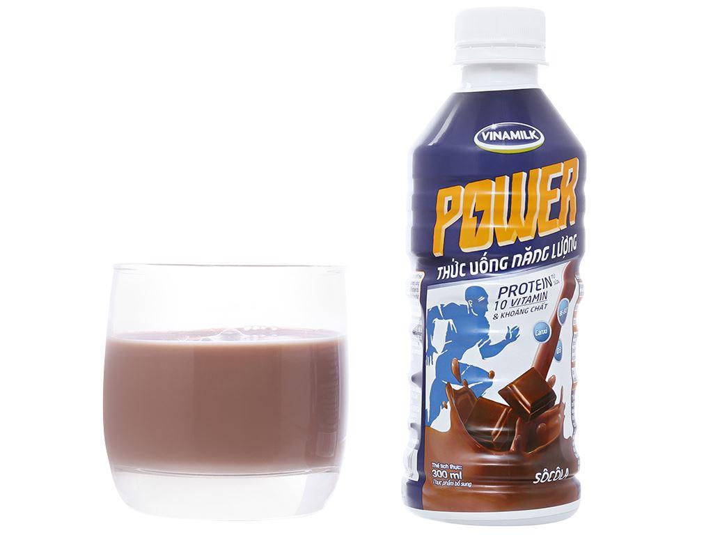 Thùng 24 chai thức uống lúa mạch socola Vinamilk Power 300ml 9