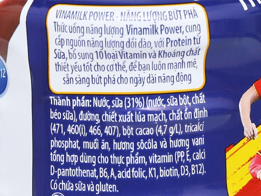 Thùng 24 chai thức uống lúa mạch Vinamilk Power sôcôla 300ml 7