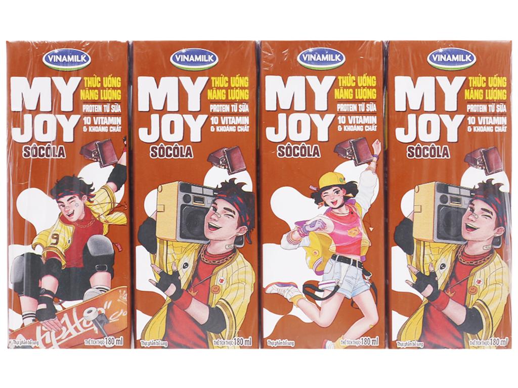 Lốc 4 hộp thức uống năng lượng Vinamilk My Joy sôcôla 180ml 1