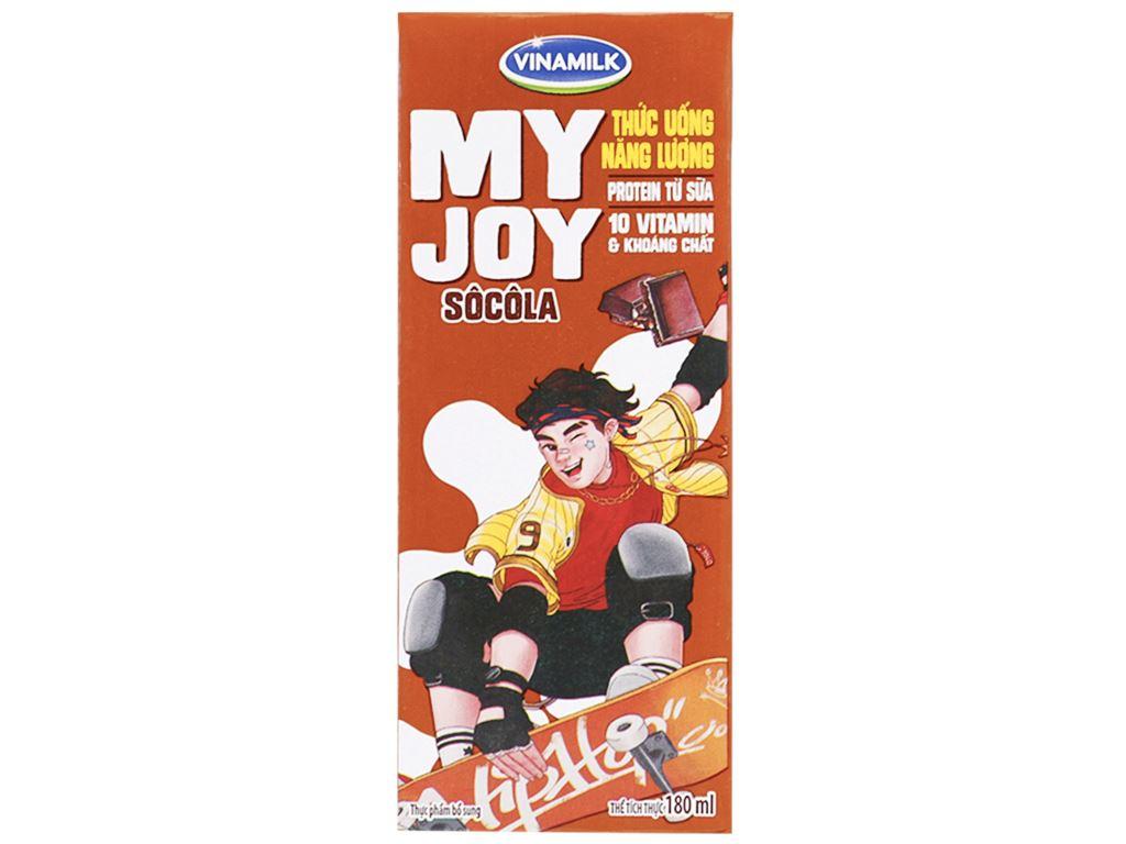 Lốc 4 hộp thức uống năng lượng Vinamilk My Joy socola 180ml 2