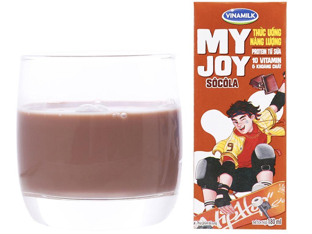 Lốc 4 hộp thức uống năng lượng Vinamilk My Joy socola 180ml 5