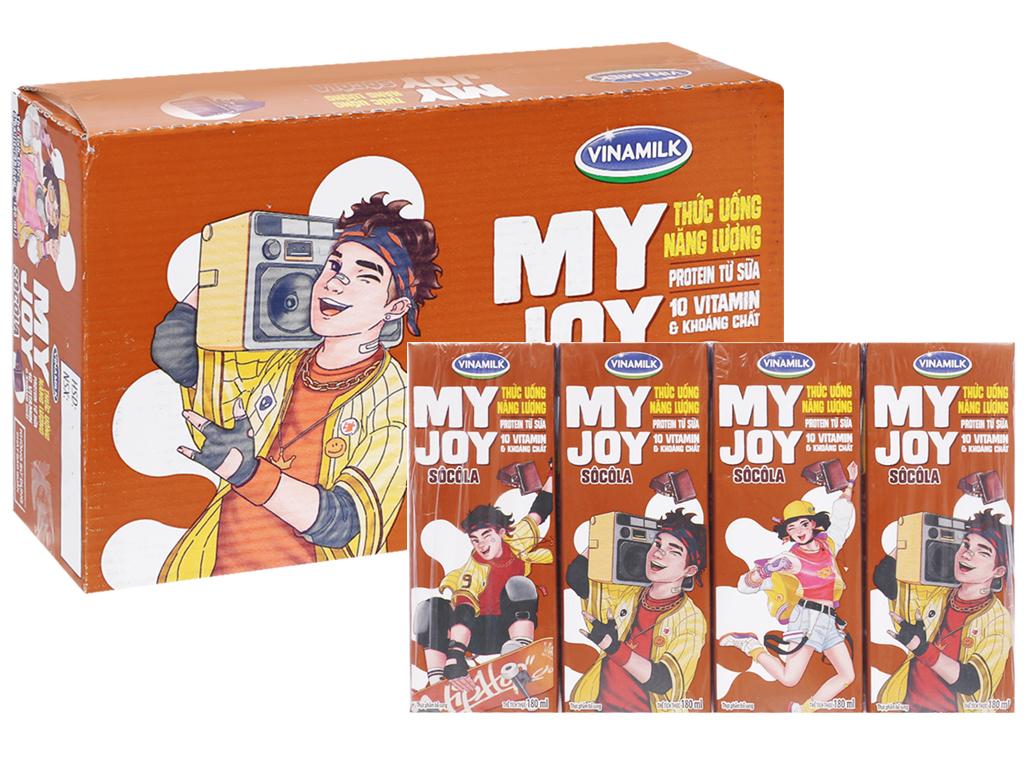 Thùng 48 hộp thức uống năng lượng Vinamilk My Joy sô cô la 180ml 1