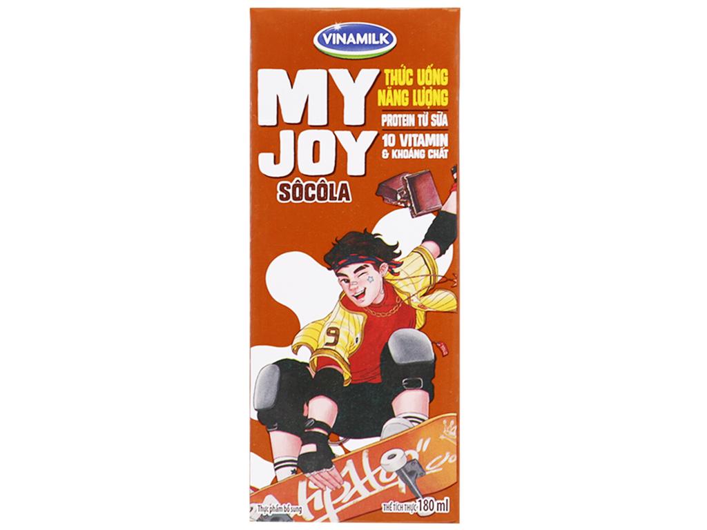 Thùng 48 hộp thức uống năng lượng Vinamilk My Joy sô cô la 180ml 2