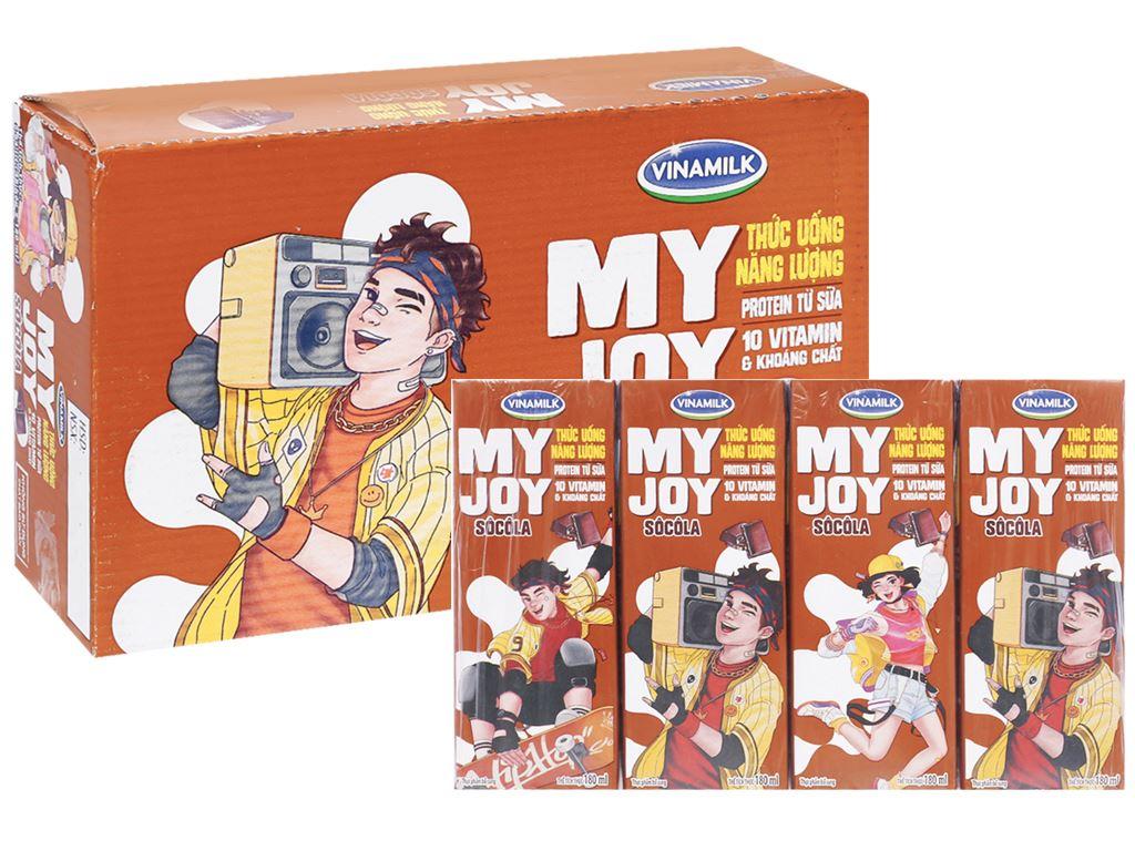 Thùng 48 hộp thức uống năng lượng Vinamilk My Joy socola 180ml 1