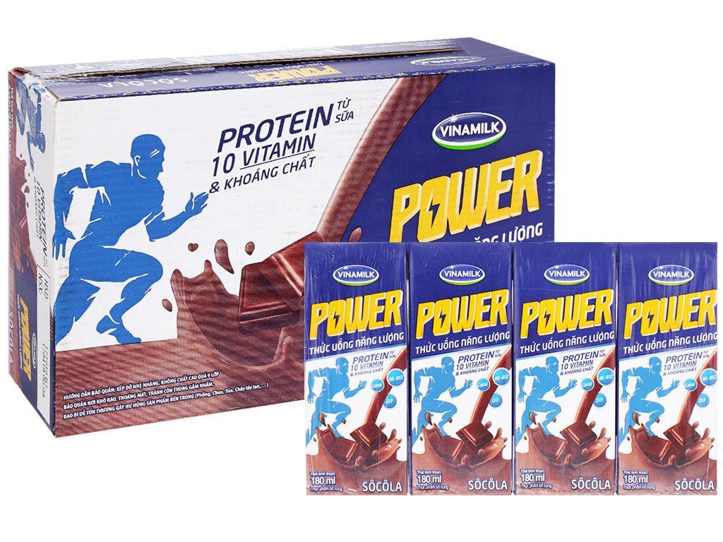 Thùng 48 hộp thức uống năng lượng socola Vinamilk Power 180ml 1