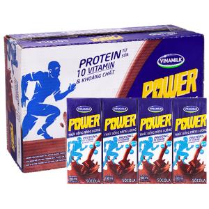 Thùng 48 hộp thức uống năng lượng Vinamilk Power socola 180ml