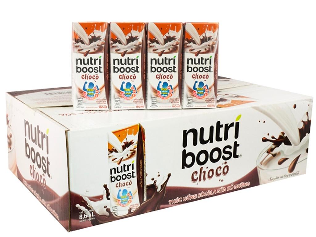 Thùng 48 hộp thức uống socola sữa bổ dưỡng Nutriboost Choco 180ml 1