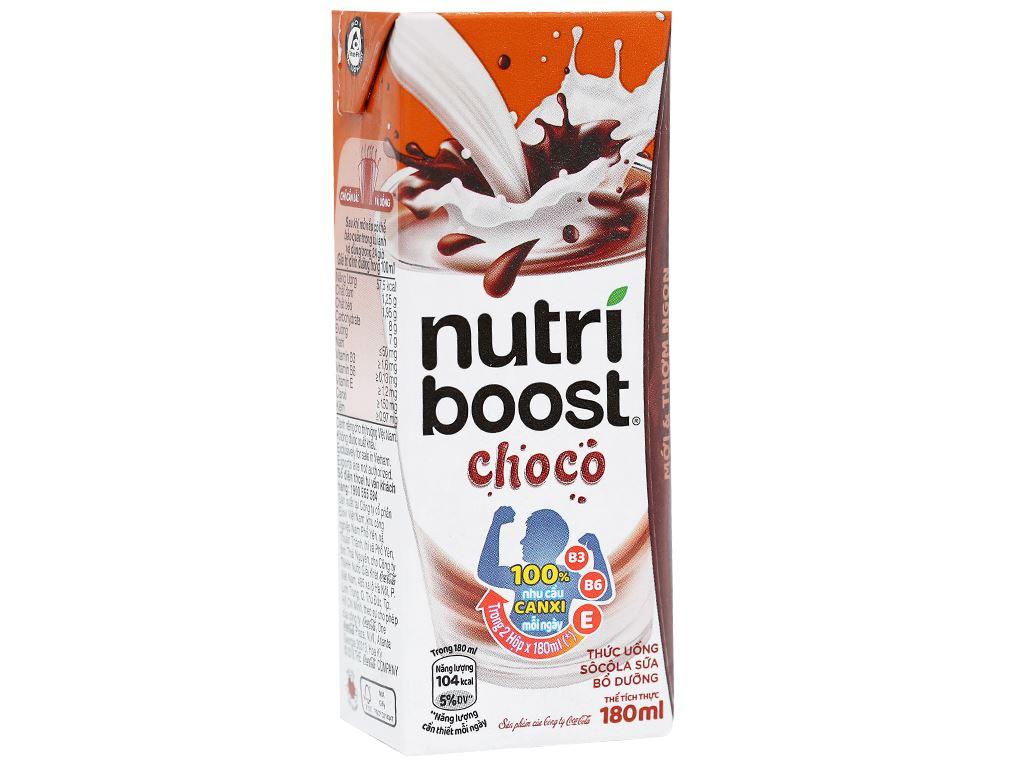 Thùng 48 hộp thức uống socola sữa bổ dưỡng Nutriboost Choco 180ml 2
