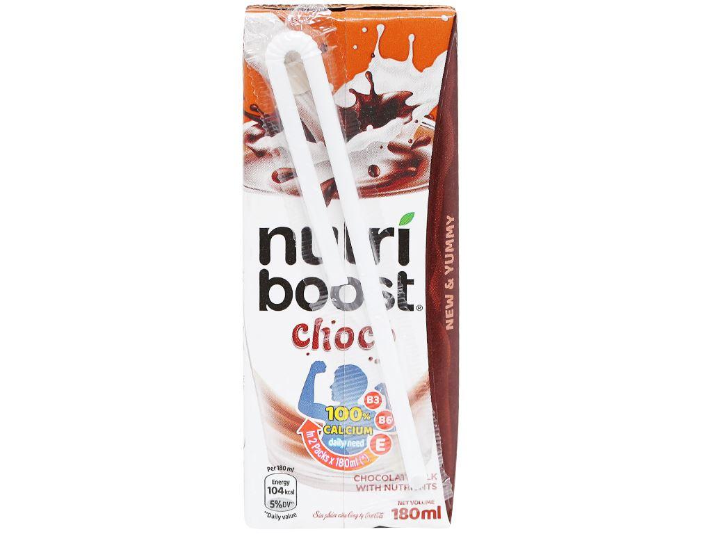 Thùng 48 hộp thức uống socola sữa bổ dưỡng Nutriboost Choco 180ml 3