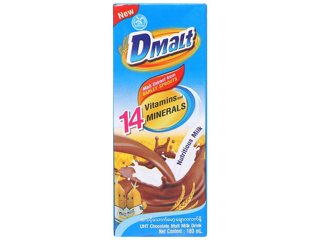 Lốc 4 hộp sữa cacao lúa mạch DMalt 180ml 7