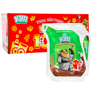 Thùng 24 túi thức uống dinh dưỡng socola lúa mạch LiF Kun 110ml
